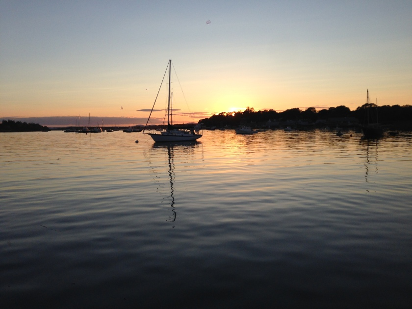 sunset over North Haven